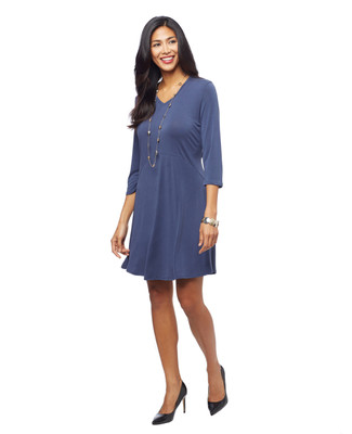 Woman's 3 quarter sleeve swing dress