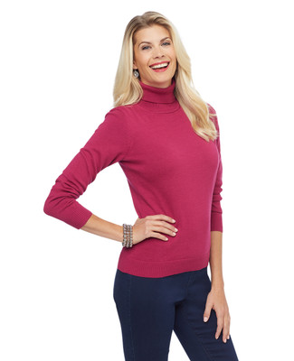 Women's knitted turtleneck sweater