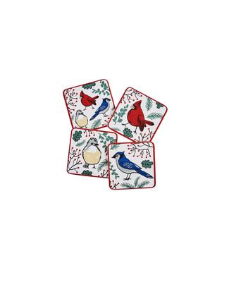 White cardinal coasters