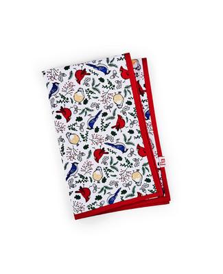 White cardinal tea towel