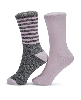 Ladies grey two pack thermal socks