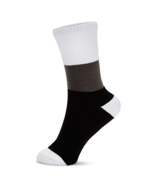Black colour block boot socks