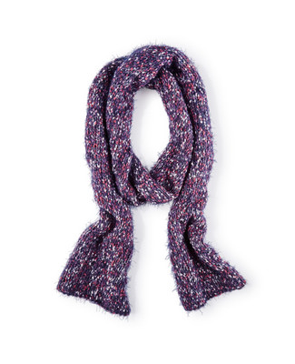 Women's multi colour boucle knitted scarf