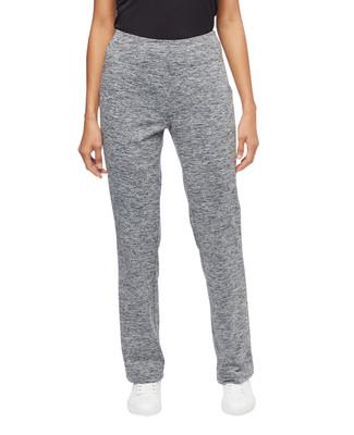 Woman's charcoal marled activewear yoga pants
