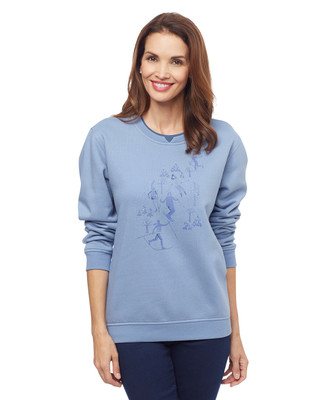 Woman's thistle scenic skier notch sweater