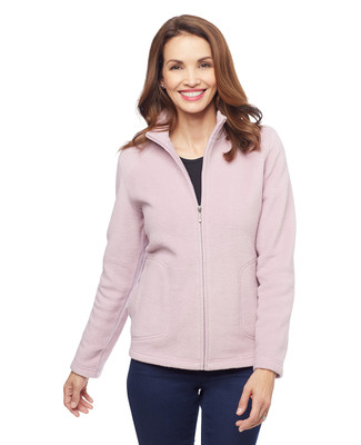Women's zip up fleece sweater jacket