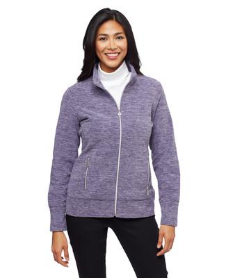 Woman's marled polar fleece winter jacket