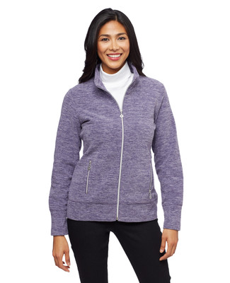 Women's marled polar fleece winter jacket
