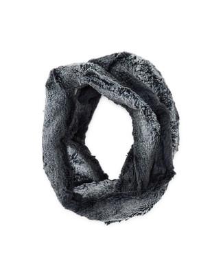 Women's navy faux fur infinity scarf