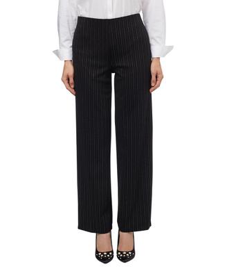 Women's black striped wide leg pull on pants