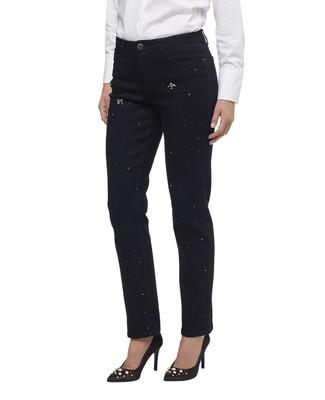 Women's jewelled dark wash Town jeans