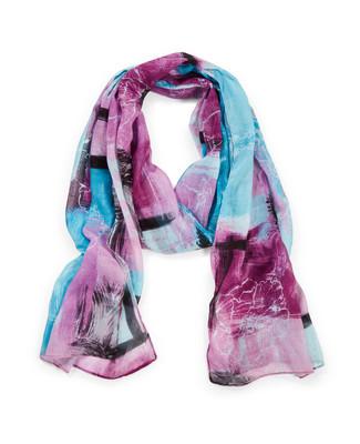 Women's viola patchwork scarf