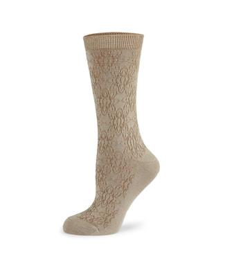 Women's floral link bamboo socks