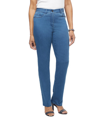 Women's stretch jeans with rhinestone detailing