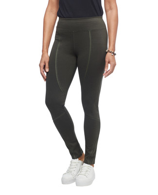 Women's green detailed leggings