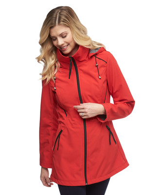 Women's red soft shell jacket