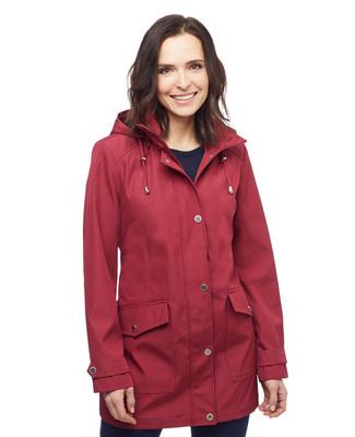 Women's water resistant jacket with detachable hood