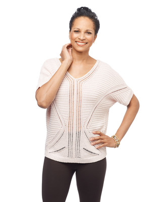 Women's short sleeve v neck knitted sweater