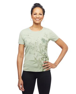 Women's short sleeve cotton bamboo printed graphic tee