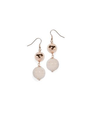 Women's peony pink dangle drop earrings