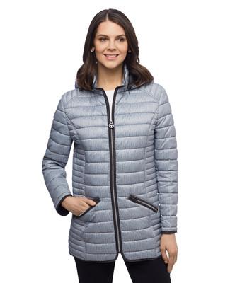 Women's Fen-nelli navy stripe lightweight quilted jacket