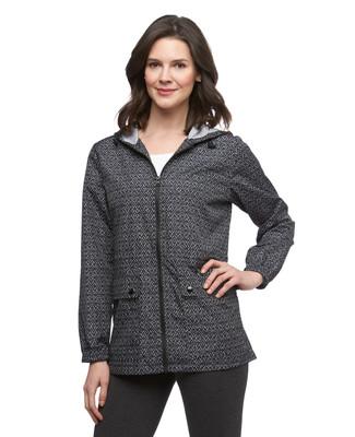 Women's black lightweight packable anorak jacket