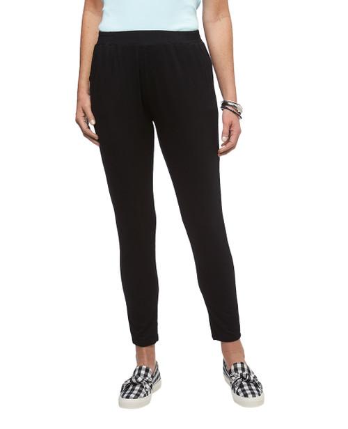 Women's Amanda Green black pull on dress pants