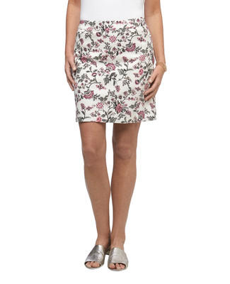 Women's floral printed pull on stretch golf skort