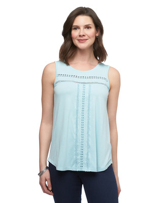 Women's Amanda Green blue crochet sleeveless top