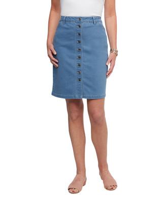 Women's light wash denim skirt