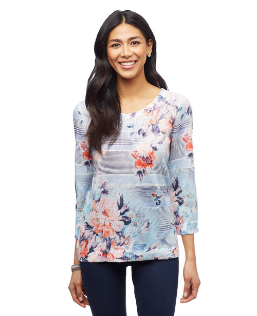 Women's floral pullover sweater