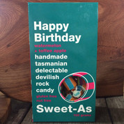 Sweet-As Rock Candy 100gm - Happy Birthday (watermelon & toffee apple)