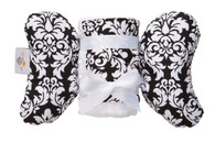 Black Dandy Damask Infant Head Support