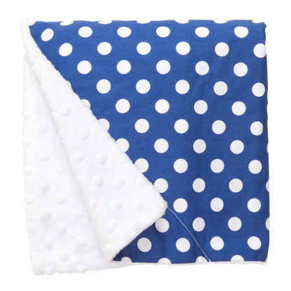 "Blue Dot Large Baby Blanket (27"" x 29"")"