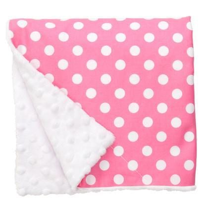"""Pink Dot Large Baby Blanket (27"""" x 29"""")"""