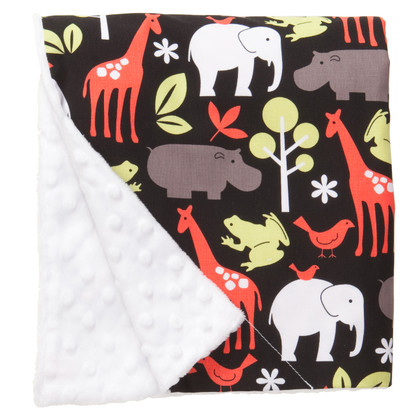 """Zoology Large Baby Blanket (27"""" x 29"""")"""