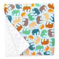 Blue Elephant Blanket