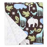 "Blue Zoology Large Baby Blanket (27"" x 29"")"