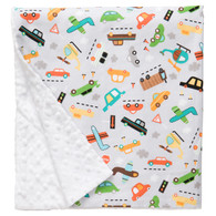 "Vroom Large Baby Blanket (27"" x 29"")"