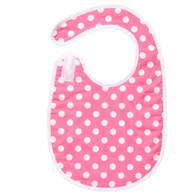Pink Dot Bib Baby Elephant Ears