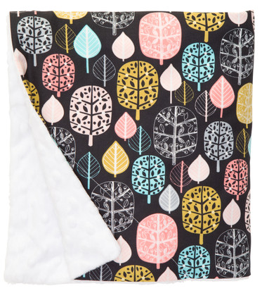 """Forest Leaves Large Baby Blanket (27"""" x 29"""")"""
