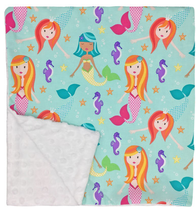 """Mermaid Large Blanket (27"""" x 29"""")"""