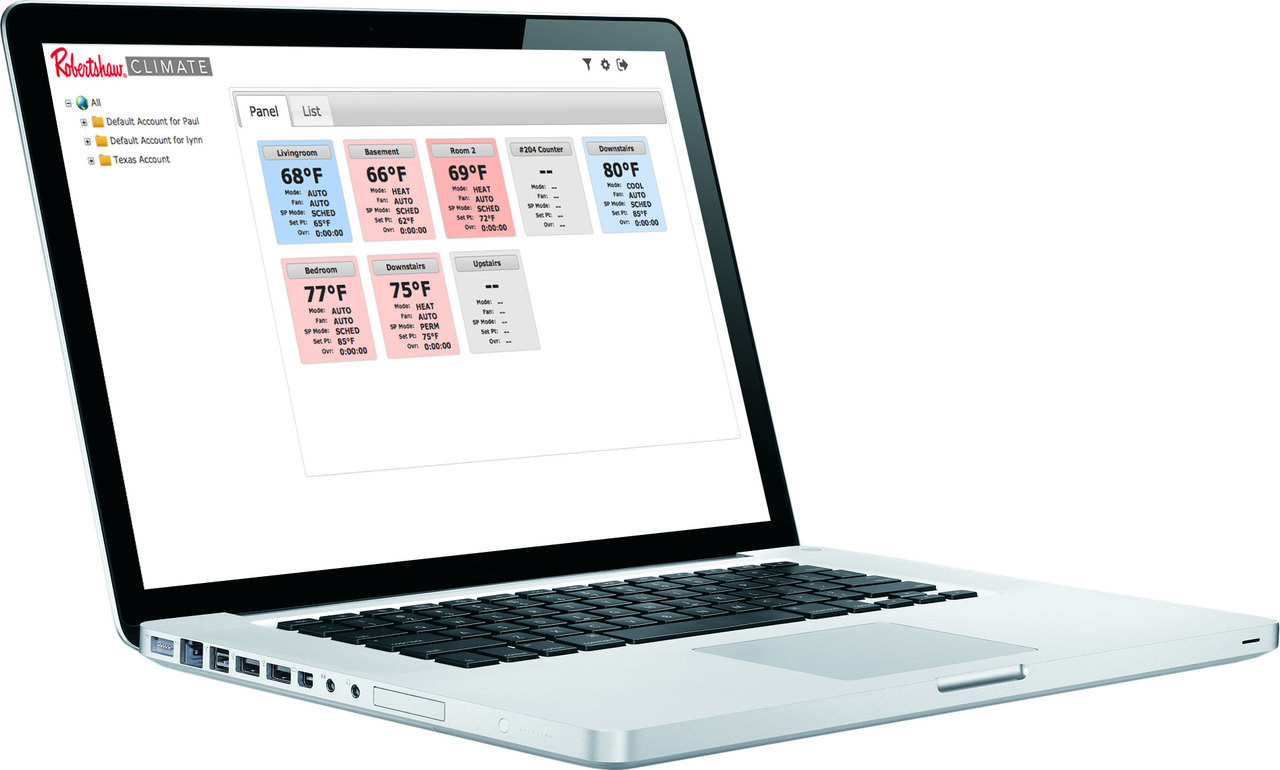 RS CloudConnect™ App Shown on a MacBook Pro (computer not included)
