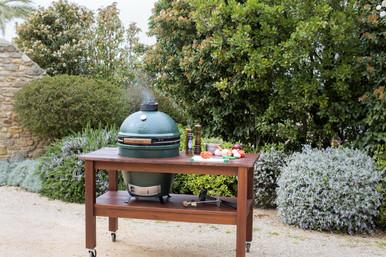 ... Big Green Egg Mahogany Table. Image 1