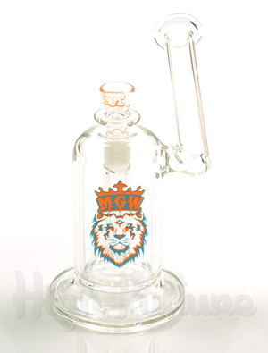 Manifest Glassworks - 14mm UV Orange and Blue Sidecar Dewar Bubbler - Front View