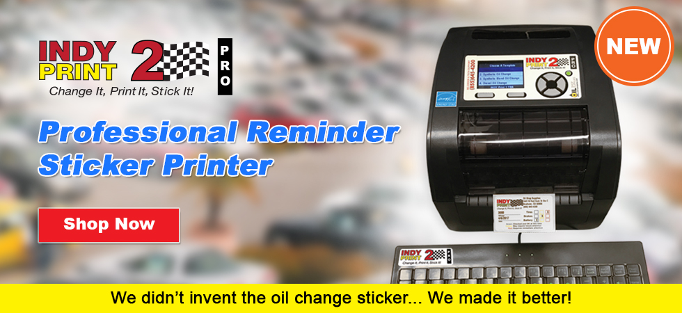 INDY Print 2 - Oil Change Reminder stickers