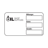 Handwritten Service Reminder Labels – Custom One Color Logo – Black