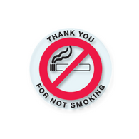 No Smoking Stickers - Circle