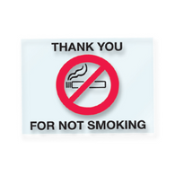 No Smoking Static Cling Sticker - Rectangle