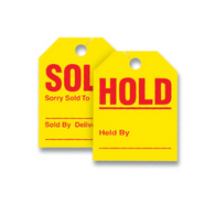 "Sold/Hold Mirror Hang Tags 8-1/2"" x 11-1/2"""